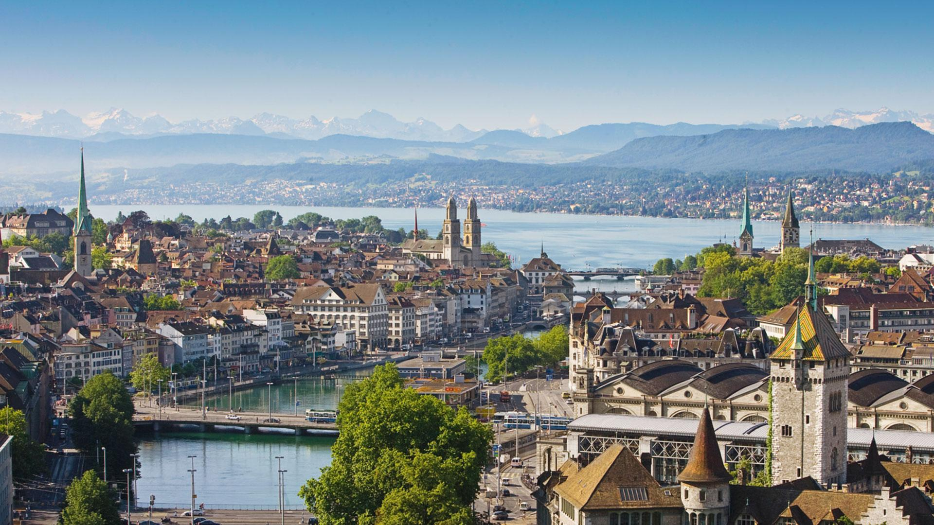 View over Zurich Old Town